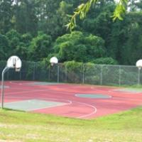 Basketball courts at Ailey Young Park.