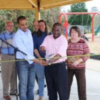 The ribbon cutting of the Park