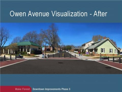 Downtown Improvements, Phase 3   Town of Wake Forest, NC