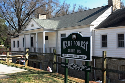 Wake Forest Community House entrance.