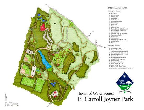 Map of E. Carroll Joyner Park