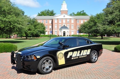 Exterior of Newly designed Wake Forest Police Department Vehicle