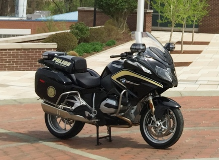 Exterior of Newly designed Wake Forest Police Department Motorcycle