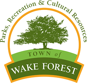 Parks, Recreation. Cultural resources Town of Wake Forest Logo
