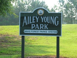 Ailey Young park sign.
