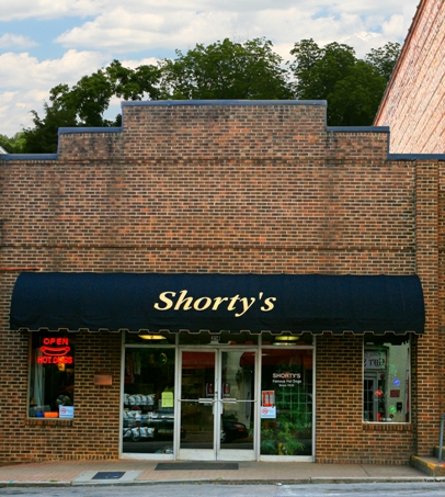 the outside of Shorty's in downtown wake forest