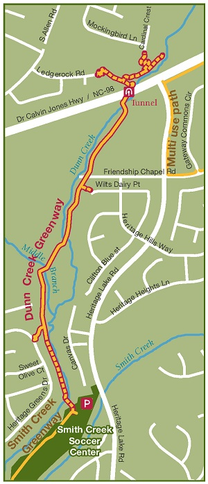 Dunn Creek Greenway Map