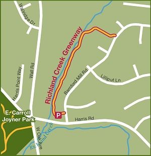 Richland Creek Greenway Map