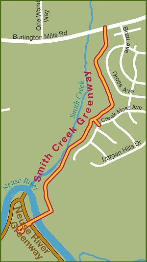 Smith Creek Greenway Map