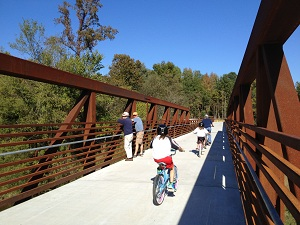 Neuse River Bridge on Smith Creek Greenway