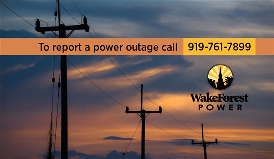 Report a Power Outage | Town of Wake Forest, NC