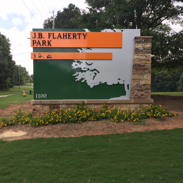 Flaherty Park Entrance Sign