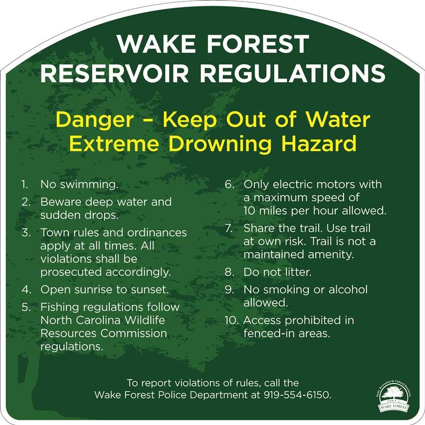 WF Reservoir Regulations