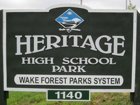 Heritage High School Park Sign