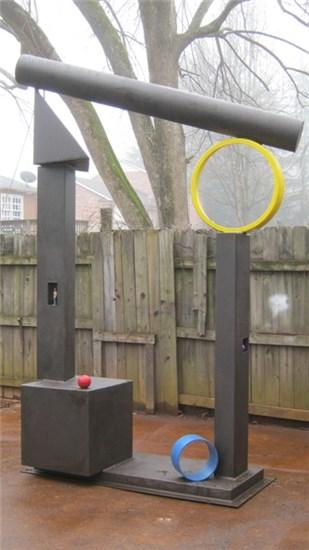 Geometer's Gate, by Charles Pilkey (Miller Park, 401 Elm Ave.)