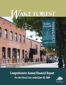 cover of comprehensive annual financial report
