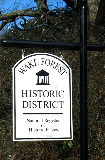 Wake Forest Historic District Sign